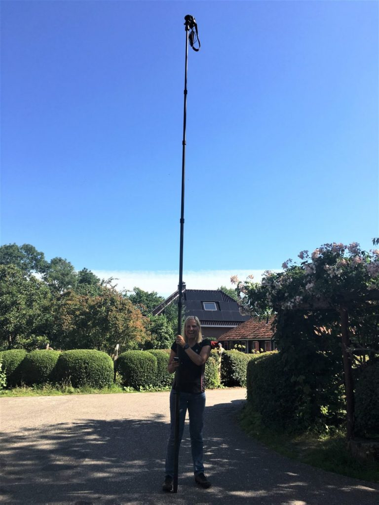 Hoogtestatief (pole) aangeschaft