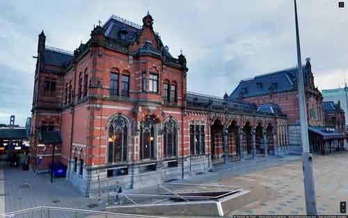 Hoogtefoto station Groningen