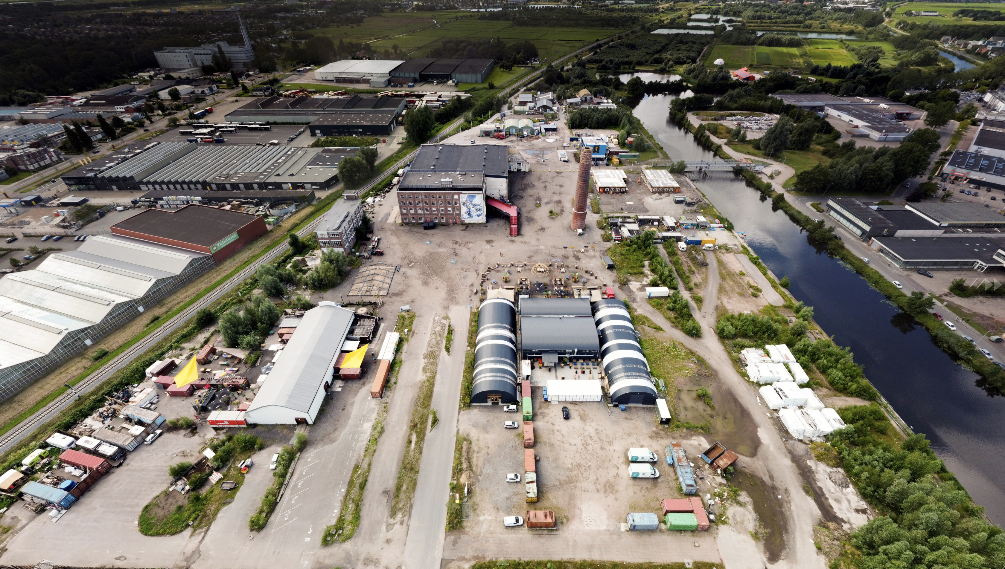 Drone foto oude Suikerunie terrein
